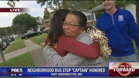 Pay It Forward: Retired teacher in Prince George's County tends to students at bus stop