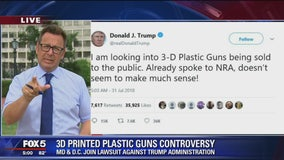 President Trump says he's looking into 3D guns issue