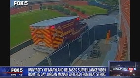 Video released of practice where University of Maryland football player Jordan McNair suffered heat stroke