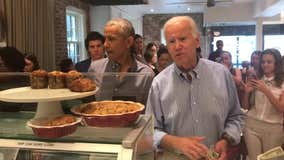 Barack Obama and Joe Biden spotted at Georgetown cafe for lunch