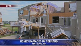 Tornado causes major storm damages at Maryland Eastern Shore