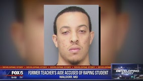 Former teacher's aide accused of raping student