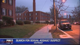 Police searching for suspect in sexual assault in Southeast DC