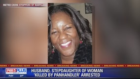 Husband, stepdaughter of woman 'killed by panhandler' arrested