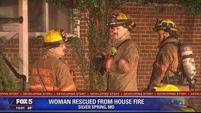 Woman rescued from Silver Spring house fire, officials say