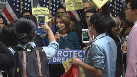 Pelosi leaves San Francisco event after young immigrants shout her down at podium