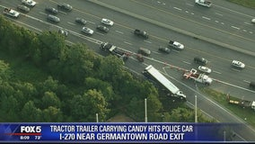Truck carrying 40,000 pounds of Hershey bars crashes on I-270