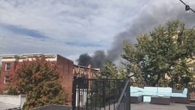 Smoke pours from apartment fire in Logan Circle