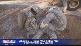 Raising veteran suicide awareness and prevention with help of One Step at a Time 20K