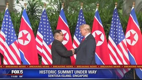Trump, North Korea's Kim Jong Un come together for momentous summit