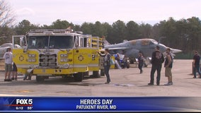 Great Mills High School community reunite with first responders at museum's Heroes Day event