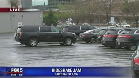 Rideshare parking lot causing traffic problems in Crystal City
