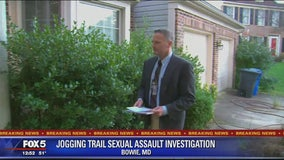Police canvass neighborhood in Bowie nearby where jogger was sexually assaulted on trail