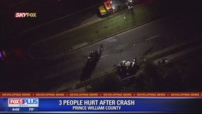 3 injured after serious crash in Prince William County