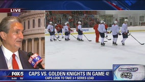 Capitals owner Ted Leonsis speaks to FOX 5 before Game 4 of Stanley Cup Final