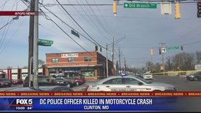 DC police officer dies in motorcycle crash in Prince George's County