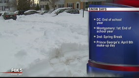 How would more snow impacts area schools?