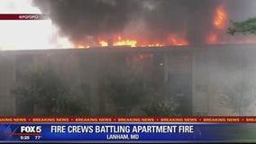Crews battle 3-alarm fire in Lanham apartment complex