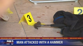 Man attacked with hammer inside DC wine store