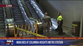 Officials: Man in a wheelchair dies after tumbling down Metro escalator
