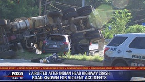 Violent crash on Indian Head Highway in Prince George's County; 2 hospitalized