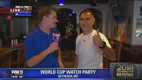 Caddies in Bethesda getting ready for Iran-Portugal Watch Party