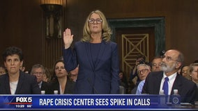 Rape and sex assault crisis hotlines see record numbers of calls following Blasey Ford testimony