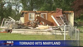 Residents cleaning up after tornado hits Maryland's Eastern Shore