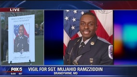 Vigil being held for fallen Prince George's County Police Sgt. Mujahid Ramzziddin