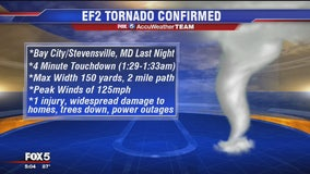 Tornado confirmed on Maryland's Eastern Shore
