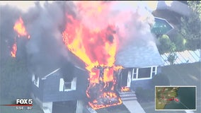 Suspected gas explosions damage homes near Boston