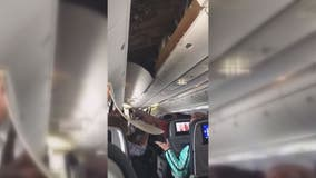 United Airlines ceiling panel falls after landing at Dulles International Airport