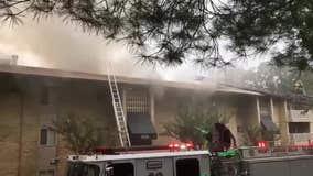 Prince George's County Fire crews battle Lanham apartment fire