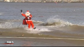 Waterskiing Santa continues to bring holiday joy in Old Town Alexandria