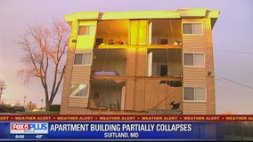 Suitland apartment building partially collapses after windstorm impacts area