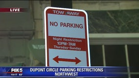 New nighttime parking restrictions near Dupont Circle
