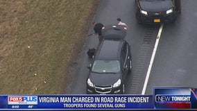 Police: Va. man arrested for road rage incident; several weapons found in car