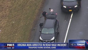 Virginia man arrested for road rage incident; several weapons recovered from vehicle