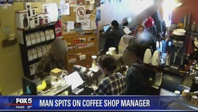 VIDEO: Unruly customer spits in face of DC coffee shop manager