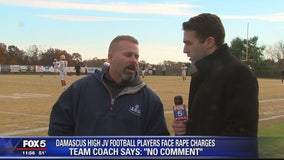 Damascus High School coach has no comment on rape charges against junior varsity football players