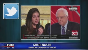 Student faces backlash for asking Sanders question