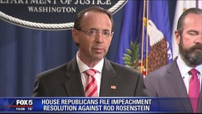 House conservatives move to impeach Deputy Attorney General Rod Rosenstein