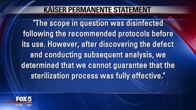 23 Kaiser Permanente patients at risk for illness after equipment may not have been disinfected
