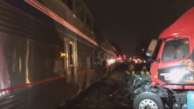 Train strikes tractor-trailer in Gaithersburg, police say