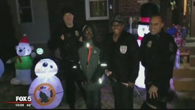 SECRET SANTA: 2 Prince George's County officers help family by replacing stolen Christmas decorations