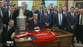 Trump hosts Stanley Cup champion Capitals