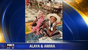 Fox 5 First 5 photo of the day: Alaya and Amira!