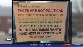 Controversy simmers over signs at Arlington high school