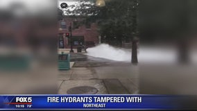 DC Water says someone has been illegally opening fire hydrants, walking away