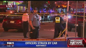 2 DC officers hospitalized after hit by pickup truck in Adams Morgan